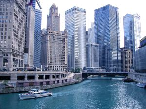 A River Runs Through It, Chicago River, Illinois Skyscraper