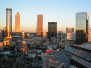 Atlanta Skyline at Sunset, Georgia
