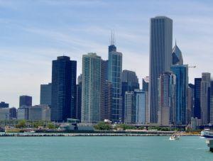 Chicago Skyline From Millennium Park, Illinois