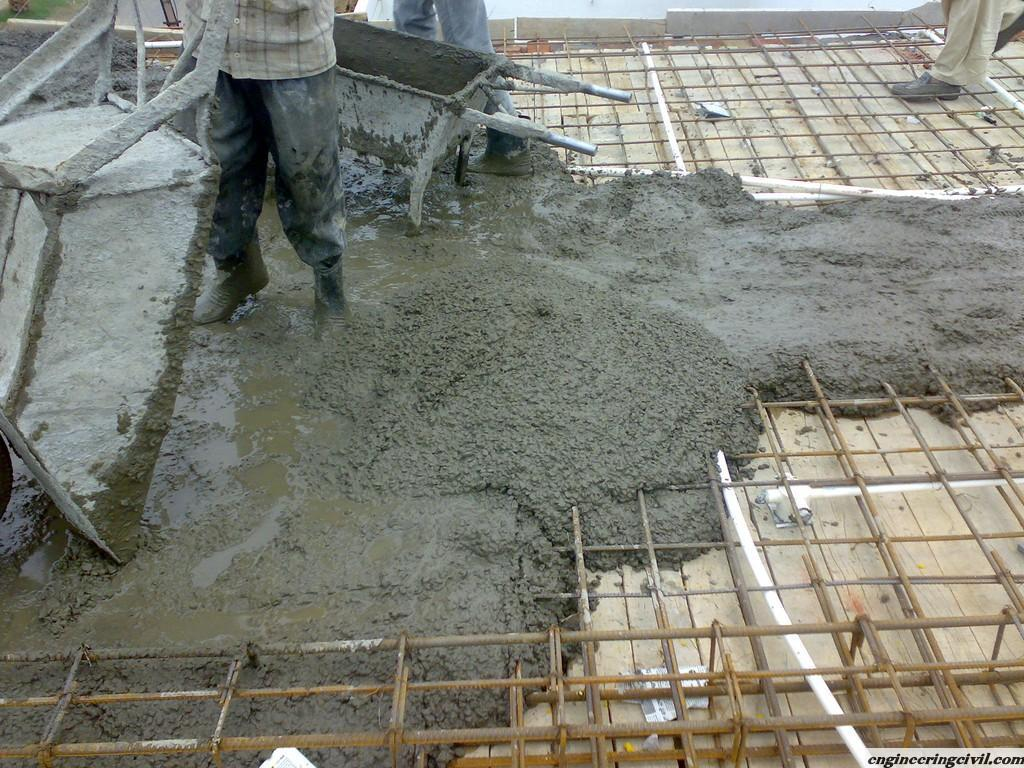 Cement Building Materials : Concrete pouring