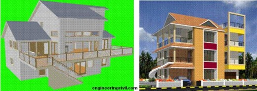 Three dimensional drawing using 3D Home Architect
