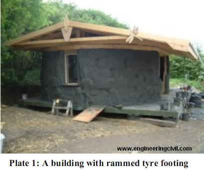 Plate 1-A building with rammed tyre footing