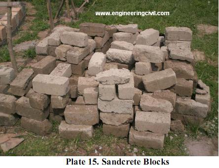 Plate 15. Sandcrete Blocks
