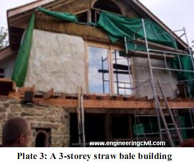 Plate 3-A 3-storey straw bale building