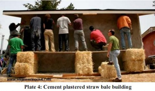 Plate 4-Cement plastered straw bale building