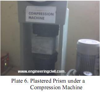 Plate 6- Plastered Prism under a Compression Machine