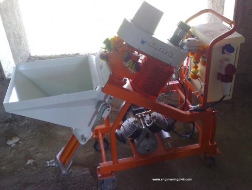 Gypsum application through Machine