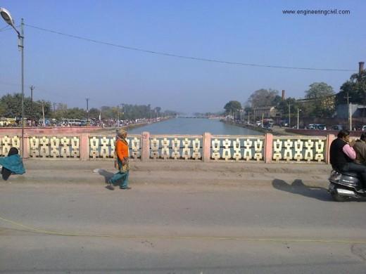 Canal North side from Nagar Nigam, Roorkee, bridge