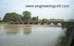Ganges canal old bridge 1854