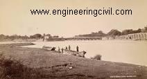 Photograph (1860) of the head works of the Ganges canal in Haridwar