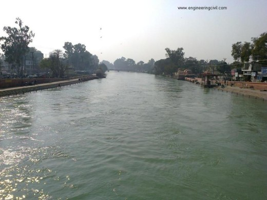 canal South side from Nagar Nigam, Roorkee bridge