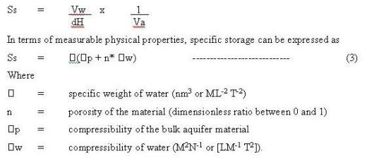 aquifer formulae