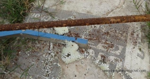 Fig  Corroded rebar (unfit for use)