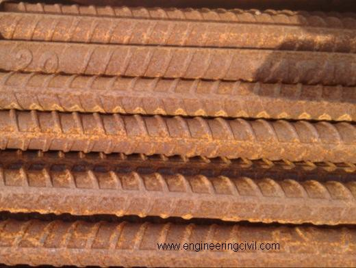 Fig  Rusted rebar (fit for use)