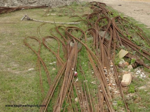 Fig Wrong Practise Laying of rebars on ground