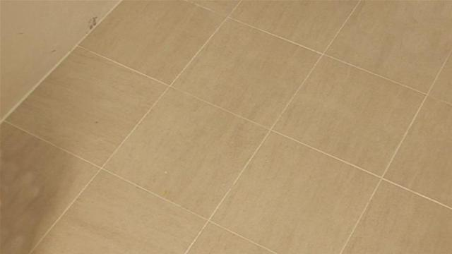 Toilet Flooring with Tile Spacers