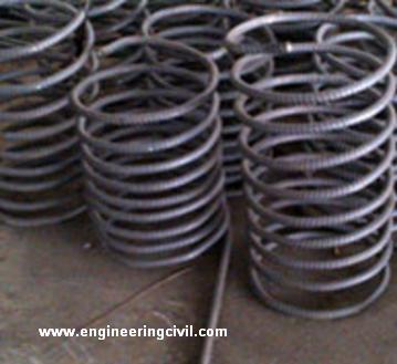 Prefabricated springs for piles