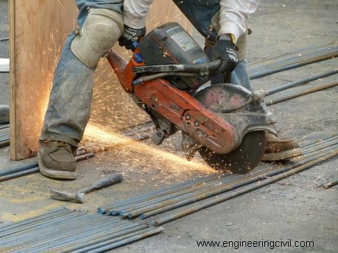 Fig 2 Safety and Quality issues upon using rebar cutter