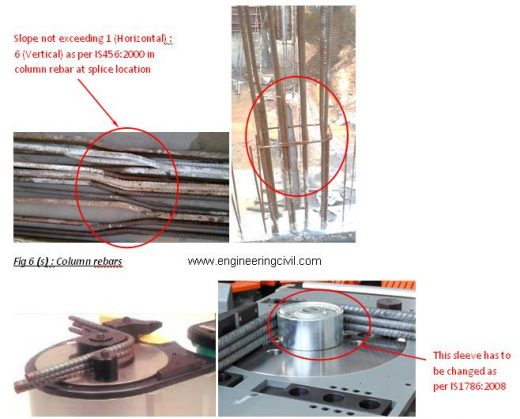 Fig 6 (s)- Column rebars