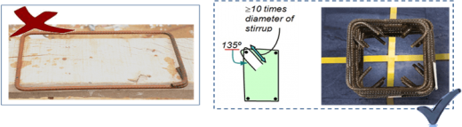 Fig 8 (s) Stirrup manufacturing Wrong & correct practise