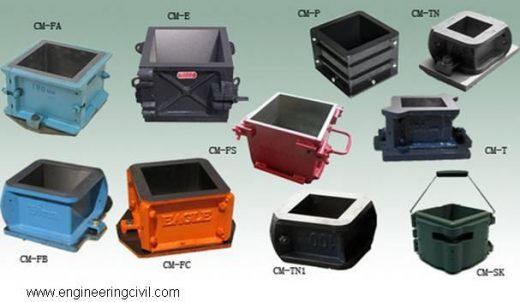 Figure 2 Different types of moulds with different sizes