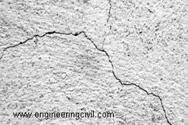 Figure 4 Plastic shrinkage cracks