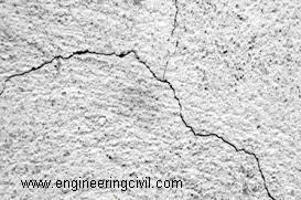 Figure 4 Plastic shrinkage cracks