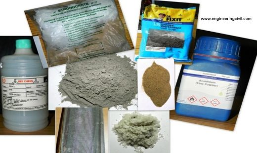 Images of materials used