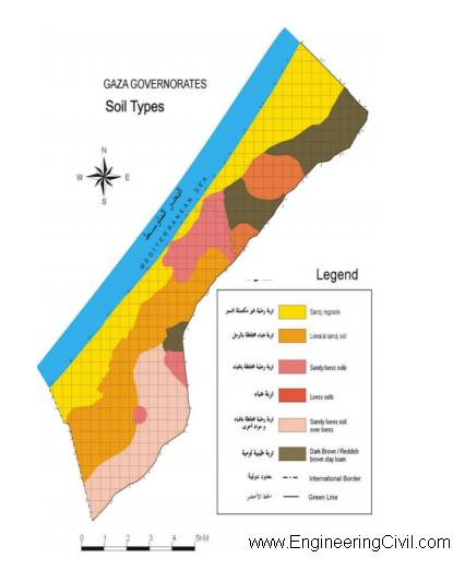 fig2 Classification of soil texture profile in the Gaza Strip