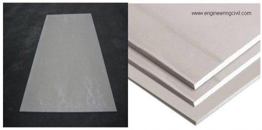 Figure 5.1- Fibre cement Gypsum board and Fiber Cement board