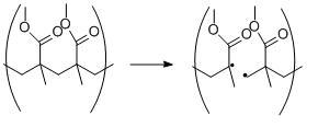 Homolytic bond cleavage