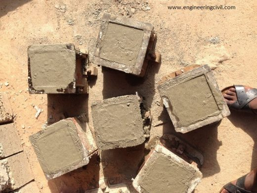 Casting of Concrete Cubes