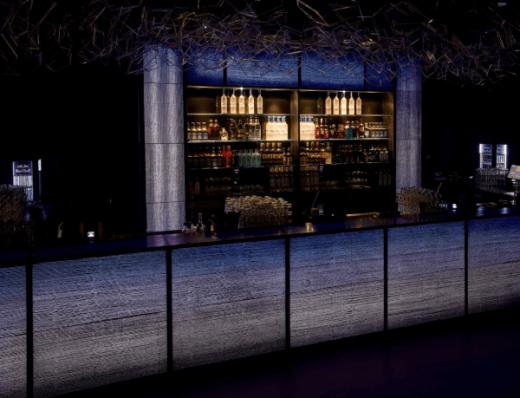 Fig 5 Bar unit made of translucent concrete