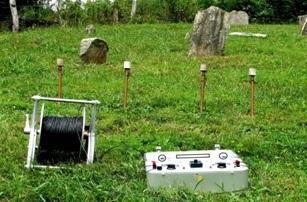 Electrical resistivity method used in field