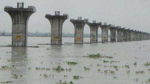 Pier construction of the bridge