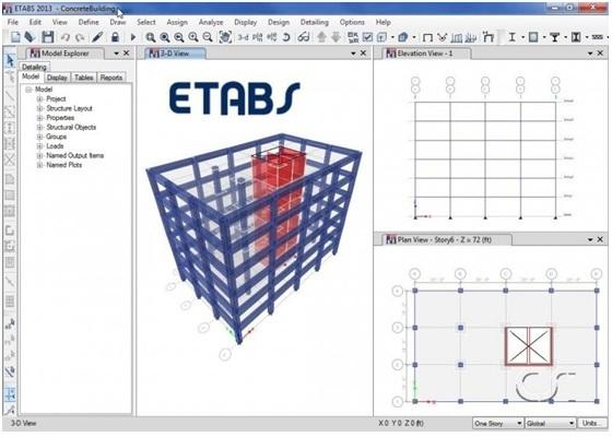 Building design in ETABS