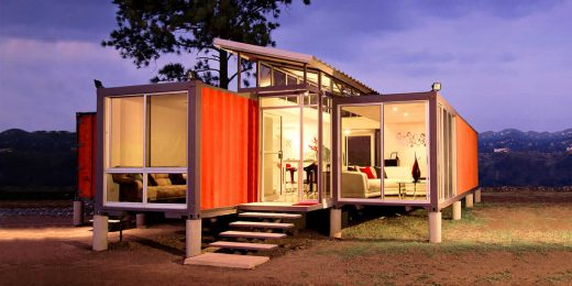 A house made of a shipping container