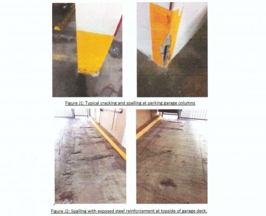 Appearance of cracks in structural elements