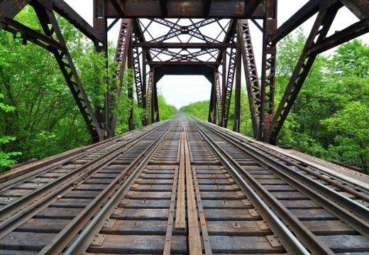 Railway view of the Chenab Bridge