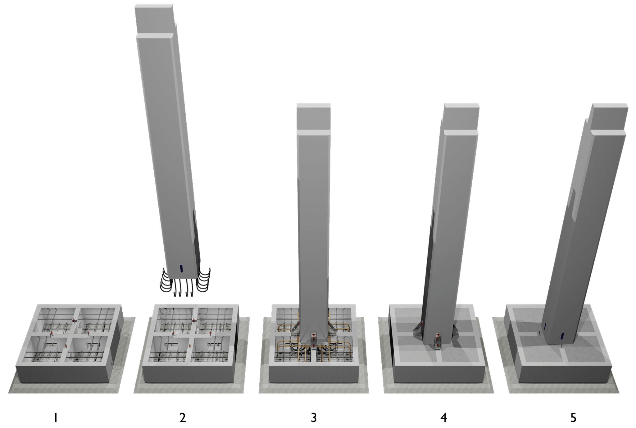 Precast foundation laying