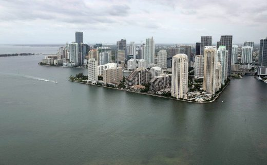 Rising of sea levels that cause floods in MiamiCourtesy- Wired