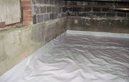 Moisture barrier for moisture control