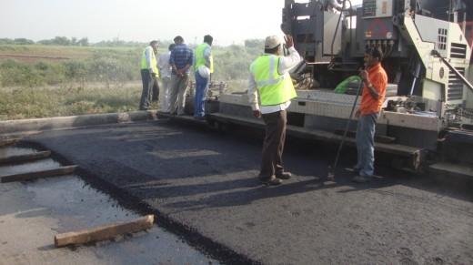 Laying of Bituminous Concrete